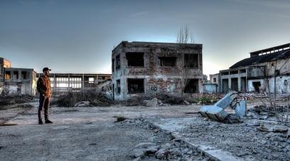 Terremoto distruzione azienda rovina