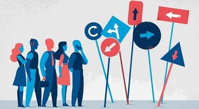 Lavoro disoccupazione bivio direzione