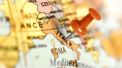Italia cartina geografia roma