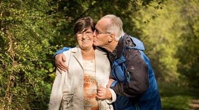 Anziani nonni terzaeta gioia