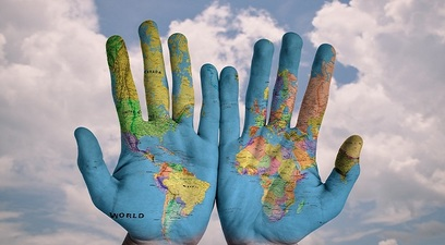 Globo mani mondo estero