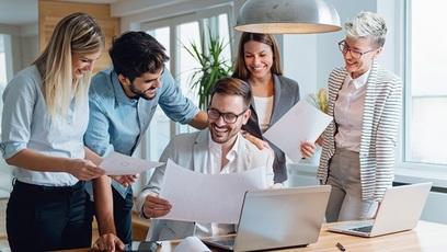 Manager team collaborazione lavoro