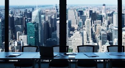 Ufficio grattacieli vista citt%c3%a0