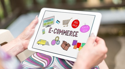 Ecommerce cartacredito tablet shopping
