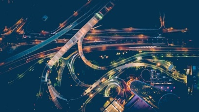 Auto futuro strada