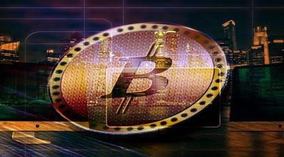Bitcoin con sfondo
