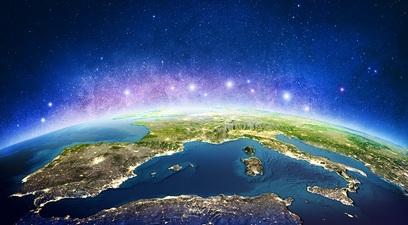 Globo mondo buio spazio