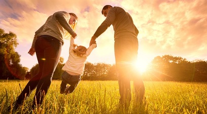 Famiglia felicita figli