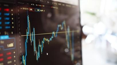 Borsa grafico azioni computer